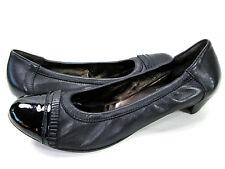 AGL Black Stretch Nappa Patent Leather Cap Toe Sz 11/41 Attilio Giusti Leombruni