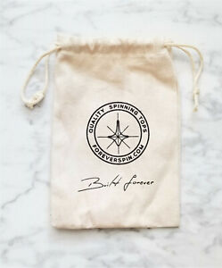 "1 ForeverSpin Spinning Tops Canvas Drawstring Cloth ""Built Forever"" Logo Bag EUC"