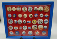 38 Political Campaign metal Button Pins (New Old Stock 1972 Reproductions )