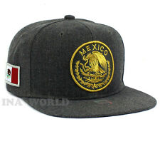MEXICAN hat Snapback MEXICO Federal Logo Embroidered Baseball cap- Charcoal Gray