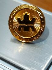 ➡➡ROYAL MINT GOLD 1/10 OZ STANDARD CRISP STRIKE RCM ROUND CANADA 18K RARE Pin
