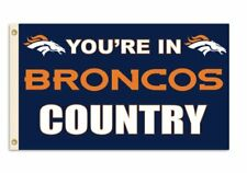 NEW NFL Denver Broncos 3 by 5 Foot In Country Flag FREE SHIPPING