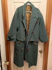 Vintage Hugo Boss Mens Trench Coat 100% Virgin Wool Size 40R Excellent Condition