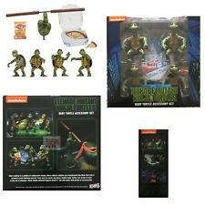 BABY TURTLE ACCESSORY SET Neca Teenage Mutant Ninja Turtles Pizza Box Nunchucks