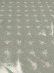Fryetts Bees DuckEgg PVC Teal Oil/Cloth 1 Metre