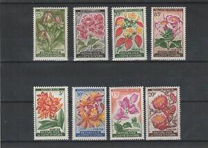 Ivory Coast 1961 Flowers Set of 8 Values Mint Hinged scan 1748