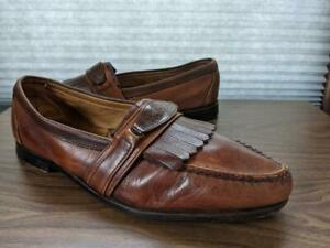 vintage FOOTJOY loafers KILTIE shoes 12 D brown USA made GOLF