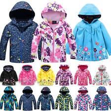 Kid Waterproof Jacket Kids Boys Girls Windproof Hooded Coat Windbreaker Hoodie