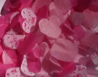 PINKS Wedding Confetti - Love Hearts Bio Degradable - Choose the amount - CONES?