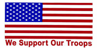 USA Flag We Support Our Troops Vinyl Decal Bumper Sticker