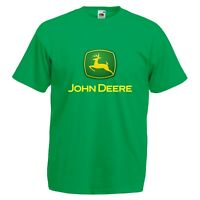 John Deere T-Shirt GREEN Tractor Enthusiast Farming Etc VARIOUS SIZES