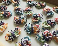 Wholesale Lot 32 Hairbows Butterfly Chevron Resale Hair Bows Clips Retail NEW