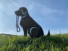 More details for rusty labrador retriever metal garden art
