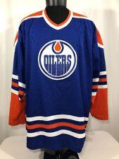 VTG Edmonton Oilers Jersey CCM Hockey Sewn Men's 2XL NHL 90s Air Knit Gretzky