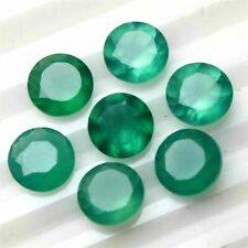 Wholesale Lot of 8mm Round Facet Natural Green Onyx Loose Calibrated Gemstone