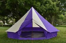 5m Camping Bell Tent ZIG 400-Ultimate Purple stripes water proof & Carry case