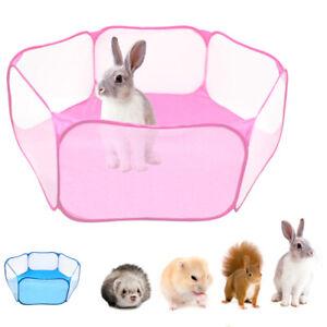 Folding Pet Playpen Rabbit Hamster Indoor Outdoor Guinea Pig Run Portable