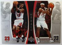 2005 UPPER DECK LEBRON JAMES Michael Jordan DUAL CARD LJMJ4 CAVS BULLS, Insert!