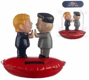 NOVELTY SOLAR POWERED KISSING COUPLE TRUMP AND KIM JONG UN , DASHBOARD TOY,