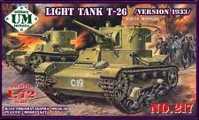 UM-MT Models 1/72 Soviet T-26 LIGHT TANK (1933 Version)
