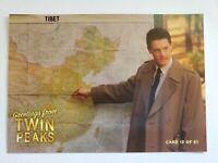 Twin Peaks Gold Box Postcard #13 of 61 -  (Agent Cooper Tibet Map) 2007