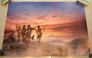 Donald Vann Limited Edition Signed Print 29x20 Native American Shaman's Council