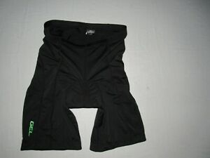 """Canari Men's Black Fitted Cycling Padded Shorts Size L Waist 32""""-34"""""""