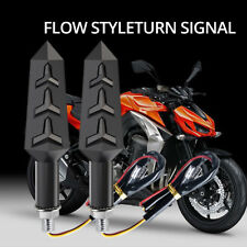 2Pcs Motorcycle Bike LED Turn Signal Light Sequential Flowing Indicator Lamp