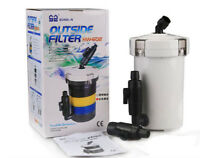 Aquarium Fish Tank External Canister Filter Outside Pre-Filter mini Filter