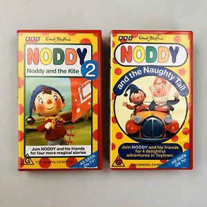 Noddy X 2 VHS Video Tapes Enid Blyton Noddy 2 And The Kite/And The Naughty Tail