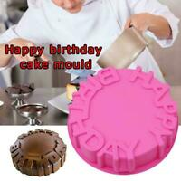 Silicone Happy Birthday Cake Jelly Chocolate Mould Decorating Baking Mold T B6D8