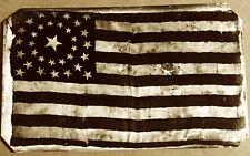 Rare & Scarce Civil War 34 Star US Flag #3 tintype C1030RP