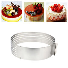 Adjustable Layer Cake Mousse Slicer Slicing Mould Bakerware Tool Round Cutter #W