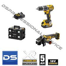 Kit DeWalt  Avvitatore DCD796 + Smerigliatrice DCG405 2 batterie 18v 5ah Litio