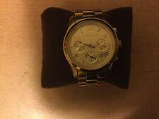 Michel Kors Ladies Parker Chronograph Silver CZ Diamante bezel Goldsmiths Boxed