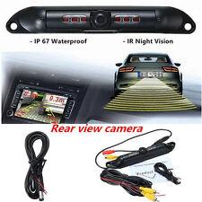 Car License Plate Rear View Reverse Backup HD Camera IR Night Vision Waterproof