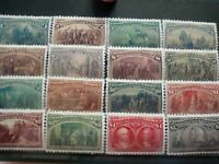 SC# 230-245 US 1893 Columbian Exposition Stamp Reproduction Place Holders