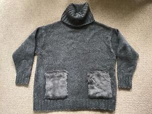 Zara Grey Polo Neck Jumper Size Small