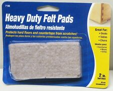 """Adhesive Backed Felt Triangles, 2"""" Sides, Oatmeal Color, Pack of 8"""