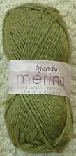 Wendy Merino DK Knitting Yarn 50g Apple Green 2373