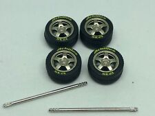 TIRES 1/64 WHEELS ACHILIES GOLD KIT FOUR Fits Hot Wheels, Matchbox many others