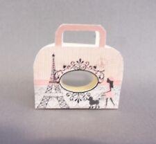 Dollhouse Miniature 1:12 Scale Pink Paris Tote (Handled)