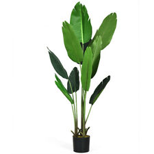 Artificial Decorative Tropical Plant Tree - 5 Feet Tall - Home Office Decor