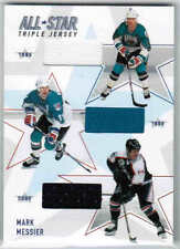 02/03 BE A PLAYER BAP MEMORABILIA MARK MESSIER ASTJ14 ALL-STAR TRIPLE JERSEY /50
