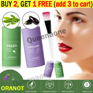 Green Tea Purifying Clay Stick Mask Oil Control Anti-Acne Eggplant Fine Solid 🍟