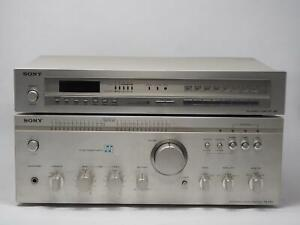Vintage SONY INTEGRATED AMP TA-F60 / ST-J60 TUNER Works Great! Free Shipping!