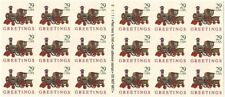 US Stamp 1992 Christmas Train Booklet of 18 Stamps Scott #2719a