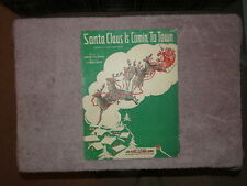 "VINTAGE ""SANTA CLAUS IS COMING TO TOWN"" Novelty Fox Trot Song - copyright 1934"
