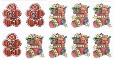 10 Small Sheets PROVO Craft Gingerbread Christmas Stocking Scrapbook Stickers