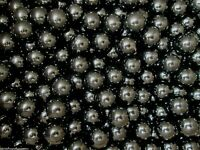 MARBLE LOT 2 POUNDS OF 15MM + or - BLACK CHAMPION MARBLES FREE SHIPPING